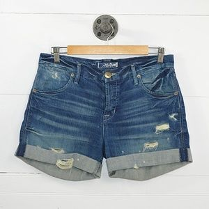 HUDSON CUFFED DENIM SHORTS #187-33